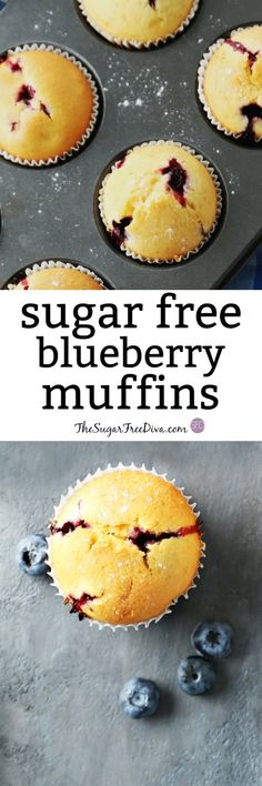 The Recipe for how to make Sugar Free Blueberry Muffins Keto Smoothie Recipes, Healthy Muffin Recipes, Diabetic Recipes, Healthy Snacks, Cooking Recipes, Diabetic Foods, Diabetic Cake, Diabetic Muffins, Pre Diabetic
