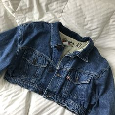 9b55d892ce1 Vintage Swatch cropped denim jacket. Super rare to come by! It's  surprisingly thick and. Depop