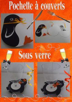 gabarit de la carte pingouin porte couverts no l pinterest. Black Bedroom Furniture Sets. Home Design Ideas