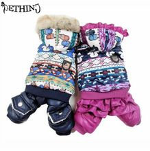 New pattern winter warm dog jacket puppy dog coat fashion hooded coat for pet Dog S M L XL small pet clothes dog pet clothes(China)