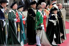 The Royal Family were accompanied by other members of the Order of the Thistle, including Lord Robertson of Port Ellen and Lord Cullen of Whitekirk, who wore ceremonial gowns