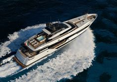 Ferretti's Custom Line 120′ Yacht Makes for Fast, Modern Seagoing