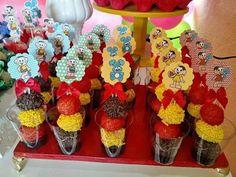 30 Lembrancinhas para Festa Turma da Mônica Picnic, Joy, Birthday, Party, Alice, Watermelon Birthday Parties, Candy Stations, Cute, Events