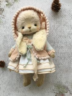 Gerda by Molokova_Olesia - Bear Pile Plush Animals, Felt Animals, Ours Boyds, Crochet Santa, Teddy Toys, Little Doll, Bjd Dolls, Handmade Toys, Softies