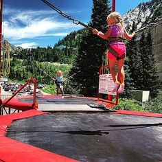 Did we mention how awesome our summer activities are? There's always fun to be had at #Snowbird Ski & Summer Resort.   #Trampoline #family #activity #summervacation #getaway