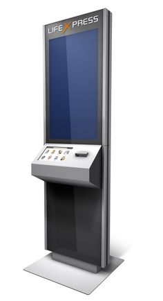 works for getting items e.g: Food & Drinks or ordering other items. Digital Kiosk, Digital Signage, Kiosk Design, Display Design, Info Kiosk, Exterior Signage, Interactive Media, Self Service, Commercial Furniture