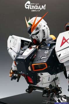 Neo Grade 1/35 RX-93 Nu Gundam Bust - Painted Build Modeled by SeoyaHooya.  More robots here.