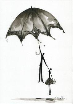 Abstrakcja deszczowa ulica ręcznie malowany obraz kobieta z | Etsy Rain Street, Rain Painting, Arte Disney, Art For Kids, Art Drawings, 1, Etsy, Illustration, Pictures