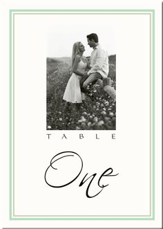 Table numbers using engagement photos