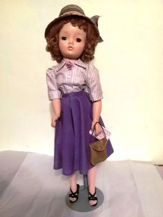 """1955-62 FAO Schwartz #M40209 M. 21"""" Cissy Doll Infused Face Paint Summer Morning"""