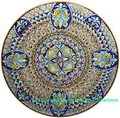Italian Deruta Ceramic Majolica Plate   47cm