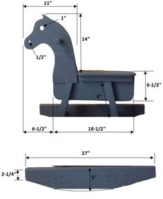 DIY rocking horse toy- template- she used scrap wood!