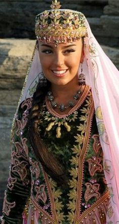 Azerbaijan beauty... woman in ceremonial garb...