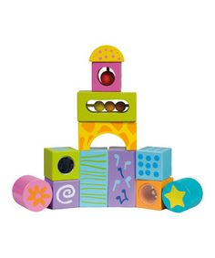 Enhance developing auditory skills with these entertaining blocks. Each emits an amusing sound with a simple shake, making it a multisensory delight.