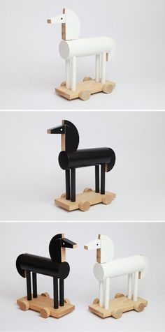 Czech wooden toys by Kutulu at Moon Picnic | Beautiful handmade wooden animal toys, czech design, modern design for kids, made in europe