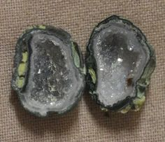 Tabasco Geode 1 Pair Cut and Polished Great for Jewelry 78620