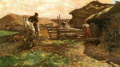 Powrót z polowania, olej, Stanisław Bohusz-Siestrzeńcewicz