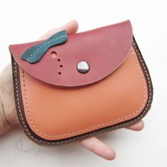 MERRY 2490 Handmade, Leather clutch Large Purse by Fairysteps