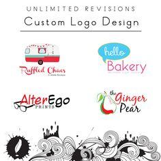 Logo Design Custom Logo Design OOAK Logo Design by xinkblot