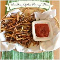 Shoestring Garlic Parsnip Fries