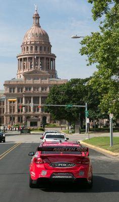 VF Commodore V8 Supercar casually going for a drive through Austin Texas