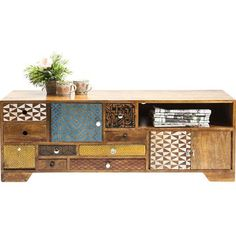 Kare Design Soleil TV meubel - x x cm - Hout Tv Furniture, Upcycled Furniture, Contract Furniture, Kare Design, Tv Diy, Television Cabinet, Tv Board, Rack Tv, Solid Wood Tv Stand