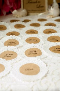 """Name tags to know how people know the bride. """"Hi I'm ______ and I'm Amy's _____ !"""""""