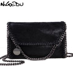NIGEDU Fashion Womens design Chain Detail Cross Body Bag Ladies Shoulder  bag clutch bag bolsa franja luxury evening bags 77169d96538a9