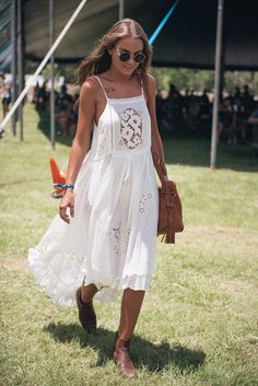 The perfect bohemian dress for sunny summer festivals (although maybe not the best for mud...)