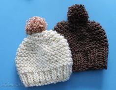 Heute zeige ich dir, wie du eine supereinfache Mütze stricken kannst. Ganz ohne Nadelspiel!