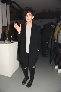 Matty Healy at converse made by you live with swim deep. 17.03.15