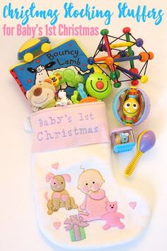 Awesomely engaging, and just plain fabulous gift ideas for babies under 12 months of age. Perfect for baby's first Christmas. Baby's First Christmas Stocking, Babys 1st Christmas, Christmas Gifts For Kids, Christmas Activities, Christmas Stockings, Christmas Crafts, Christmas Ideas, Christmas 2016, Xmas