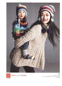 Asian Models: Ai Tominaga Ad Campaign for Gap Holiday 2007 - I love this Gap ad with Ai Tominaga. That's her real son...his expression is precious!