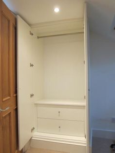 JAMES CARPENTRY | alcove cabinets | wardrobes | bookcases Wardrobes Fitted Wardrobe Interiors, Bedroom Built In Wardrobe, Ikea Pax Wardrobe, Spare Bedroom Decor, Bedroom Pics, Bedroom Pictures, Alcove Cabinets, Bedroom Cupboards, Floor To Ceiling Wardrobes