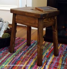 Ana White   Build a Knockoff Plow & Hearth Elmwood Stool   Free and Easy DIY Project and Furniture Plans