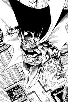 Comic Book Pages, Comic Book Artists, Comic Book Characters, Comic Character, Jim Lee Batman, Im Batman, Batman Drawing, Batman Artwork, Comic Art