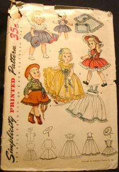 pattern simplic, doll clothes patterns, cloth pattern