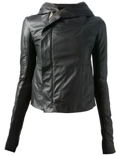 RICK OWENS - hooded biker jacket
