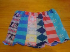 Skirt from old socks/ need to tell Erin to save all her roller derby socks.