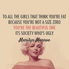 Beauty comes in all shapes and sizes #marilynmonroe #beauty