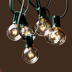 Amazon.com: String Lights with 25 G40 Clear Globe Bulbs by Deneve® - Indoor & Outdoor Lights Perfect for Backyards, Gazebos, Patios, Gardens...