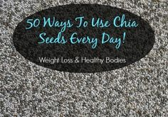 Black and white chia seeds are nutritious and can be eaten raw or cooked. Perfect for weight loss and can be incorporated into almost any food because they are tasteless. 50 ways to use chia seeds. Weight Loss Shakes, Fast Weight Loss, Healthy Weight Loss, Chia Seed Recipes For Weight Loss, Help Losing Weight, How To Lose Weight Fast, White Chia Seeds, Medical Weight Loss, Eating Raw