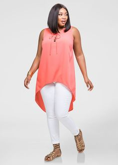 5e3f813b4e7 Split Back Hi-Lo Tank Split Back Hi-Lo Tank Fashionable Plus Size Clothing