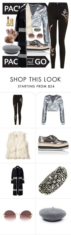 """""""Pa¢K & G0"""" by dissolving-film ❤ liked on Polyvore featuring Topshop, Boohoo, Hollister Co., Prada, Helene Berman and Chrome Hearts"""