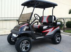 The Rebel - Custom Golf Cart - Cool Graphics