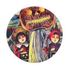 #Vintage Halloween pumpkin kids party plate - #Halloween happy halloween #festival #party #holiday
