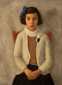 Retrato de Rosario (Retrato de niña) (1934) Oleo sobre tela - Ramón Gómez Cornet (Argentino 1898-1964) Museo Nacional de Bellas Artes de Buenos Aires