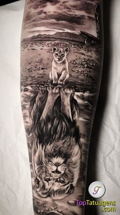 50 eye-catching lion tattoos that make you want to ink - creative lion tattoo . - 50 eye-catching lion tattoos that make you fancy ink – creative lion tattoo © tattoo artist Lion Back Tattoo, Lion Tattoo Sleeves, Lion Head Tattoos, Nature Tattoo Sleeve, Forarm Tattoos, Cool Forearm Tattoos, Best Sleeve Tattoos, Leg Tattoos, Lion Cub Tattoo