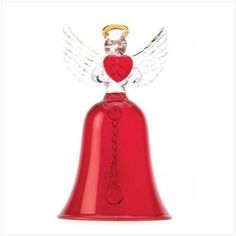 heart's delight angel bell Description Stories say that every time a bell rings, an angel sings. This beautiful bell brings the old tale to lovely life, in glowing ruby color glass tipped with gleaming gold. A sweet song for everyone!