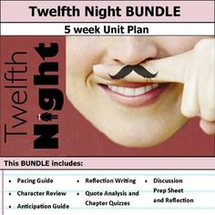 5 weeks of lesson plans. Includes pacing guide, film essay, activities, chapter quizzes, and discussions. This bundle has everything you need to get started teaching Twelfth Night by William Shakespeare in an engaging way! Shakespeare In Love, William Shakespeare, Twelfth Night Quotes, Shakespeare Characters, Pacing Guide, Essay Questions, Unit Plan, Eighth Grade, Essay Topics